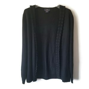 Brooks Brothers cardigan merino wool black sz L